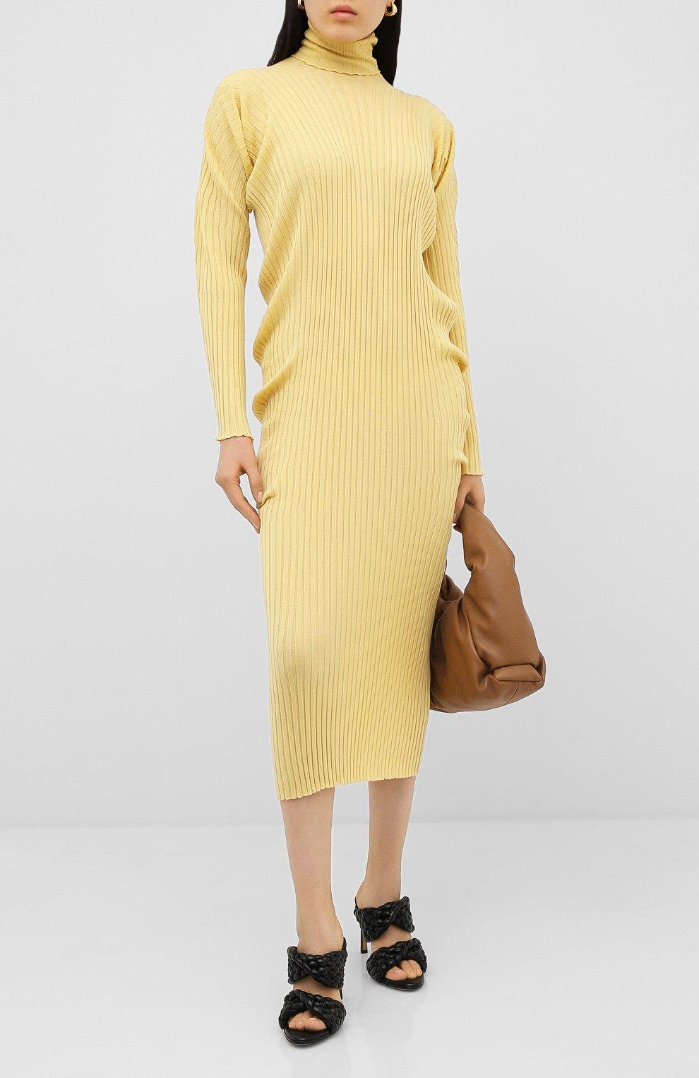 Женское шерстяное платье BOTTEGA VENETA бежевого цвета, арт. 626961/VKWG0 | Фото 2
