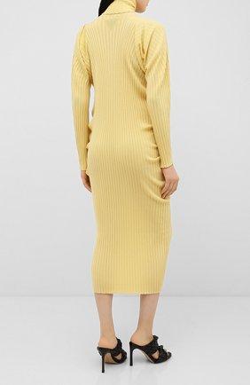 Женское шерстяное платье BOTTEGA VENETA бежевого цвета, арт. 626961/VKWG0 | Фото 4
