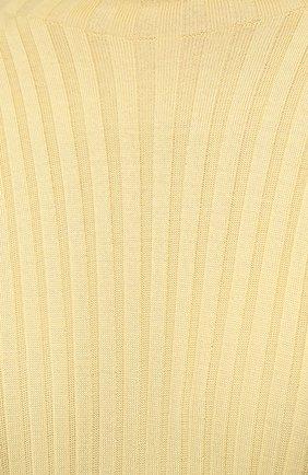 Женское шерстяное платье BOTTEGA VENETA бежевого цвета, арт. 626961/VKWG0 | Фото 5
