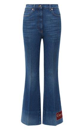 Женские джинсы GUCCI синего цвета, арт. 624929/XDA6N | Фото 1