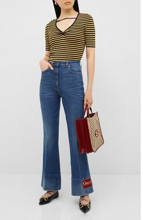 Женские джинсы GUCCI синего цвета, арт. 624929/XDA6N | Фото 2