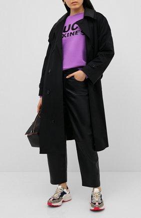 Женская хлопковый свитшот GUCCI фиолетового цвета, арт. 623450/XJCLC   Фото 2