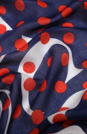 Мужские шарф minipois GUCCI синего цвета, арт. 623130/3G856   Фото 2