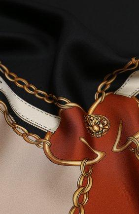 Женский шелковый платок runbelts GUCCI коричневого цвета, арт. 621940/3G001 | Фото 2