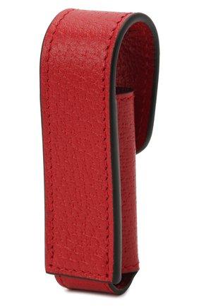 Женская косметичка porte-rouges GUCCI красного цвета, арт. 615998/DJ2QS | Фото 2 (Материал: Кожа)