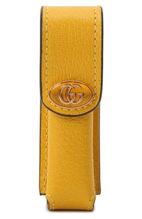 Женская косметичка porte-rouges GUCCI желтого цвета, арт. 615998/DJ2QS | Фото 1