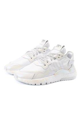 Женские комбинированные кроссовки nite jogger ADIDAS ORIGINALS белого цвета, арт. EG8849 | Фото 1