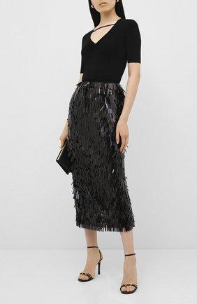 Женские кожаные босоножки moorea GUCCI черного цвета, арт. 617959/CLG00 | Фото 2