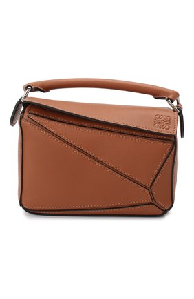 Женская сумка puzzle mini LOEWE светло-коричневого цвета, арт. 322.30.U95   Фото 1