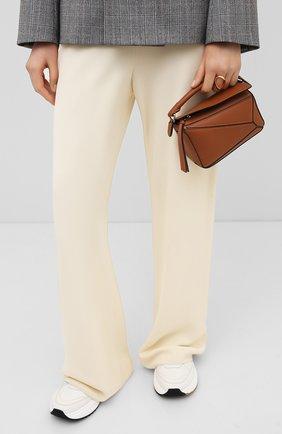 Женская сумка puzzle mini LOEWE светло-коричневого цвета, арт. 322.30.U95   Фото 2