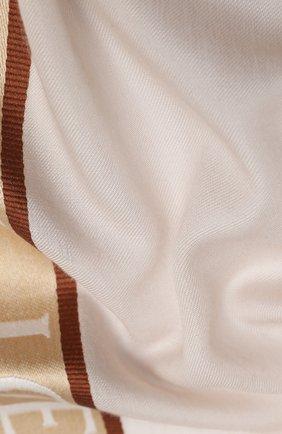 Мужские шарф из шелка и кашемира LOEWE бежевого цвета, арт. F811251X02   Фото 2