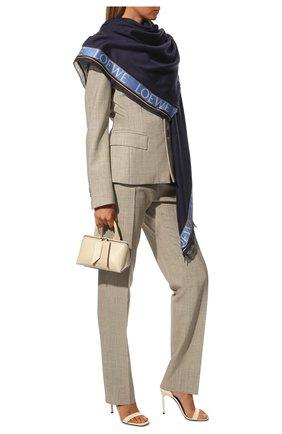 Мужские шарф из шелка и кашемира LOEWE темно-синего цвета, арт. F811251X02   Фото 2