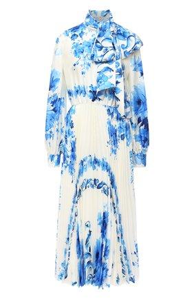 Женское шелковое платье VALENTINO голубого цвета, арт. UB3VATA05LV | Фото 1