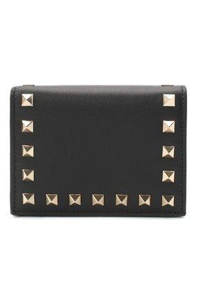 Женские кожаное портмоне valentino garavani rockstud VALENTINO черного цвета, арт. UW2P0P39/B0L | Фото 1