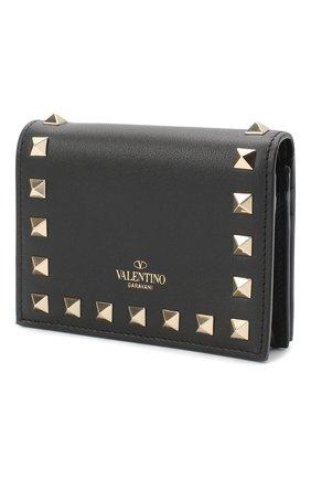 Женские кожаное портмоне valentino garavani rockstud VALENTINO черного цвета, арт. UW2P0P39/B0L | Фото 2