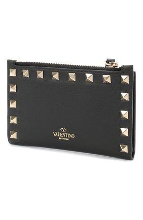 Женские кожаный кошелек valentino garavani rockstud VALENTINO черного цвета, арт. UW2P0605/B0L | Фото 2
