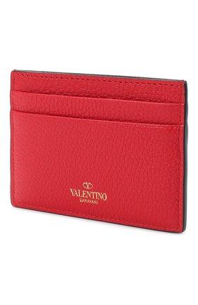 Кожаный футляр для кредитных карт Valentino Garavani Rockstud | Фото №2