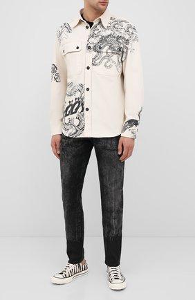 Мужские текстильные кеды chuck 71 CONVERSE черно-белого цвета, арт. 167811 | Фото 2