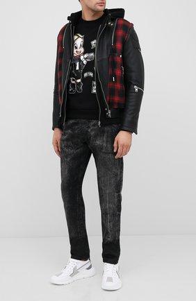 Мужской хлопковый свитшот с принтом DOM REBEL черного цвета, арт. BALLER/SWEATSHIRT   Фото 2