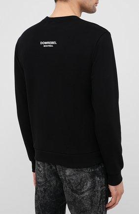 Мужской хлопковый свитшот с принтом DOM REBEL черного цвета, арт. BALLER/SWEATSHIRT | Фото 4