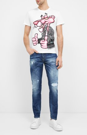 Мужская хлопковая футболка DOM REBEL белого цвета, арт. MIN0U/T-SHIRT | Фото 2