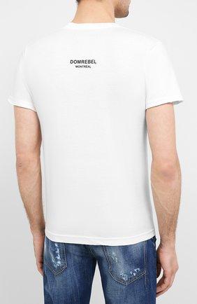 Мужская хлопковая футболка DOM REBEL белого цвета, арт. MIN0U/T-SHIRT | Фото 4