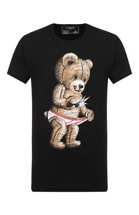 Мужская хлопковая футболка DOM REBEL черного цвета, арт. SNAP/T-SHIRT/25SW | Фото 1