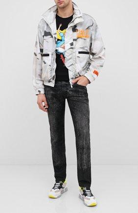 Мужская хлопковая футболка DOM REBEL черного цвета, арт. SKATE/T-SHIRT | Фото 2