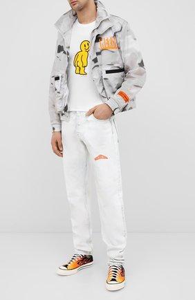 Мужская хлопковая футболка DOM REBEL белого цвета, арт. M00N/T-SHIRT | Фото 2