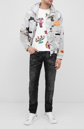 Мужская хлопковая футболка DOM REBEL белого цвета, арт. LUXURY/B0X T-SHIRT | Фото 2