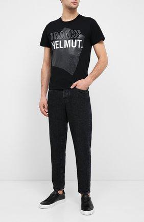 Мужская хлопковая футболка HELMUT LANG черного цвета, арт. K05DM514 | Фото 2