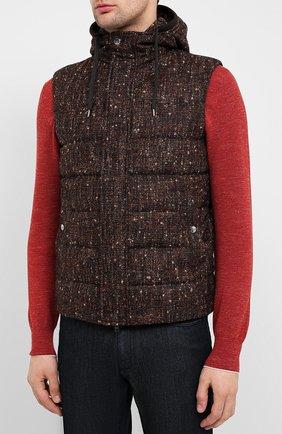Мужской пуховый жилет HERNO коричневого цвета, арт. PI064UR/33281 | Фото 3