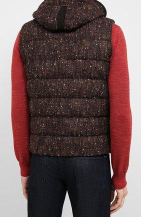 Мужской пуховый жилет HERNO коричневого цвета, арт. PI064UR/33281 | Фото 4