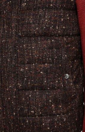 Мужской пуховый жилет HERNO коричневого цвета, арт. PI064UR/33281 | Фото 5