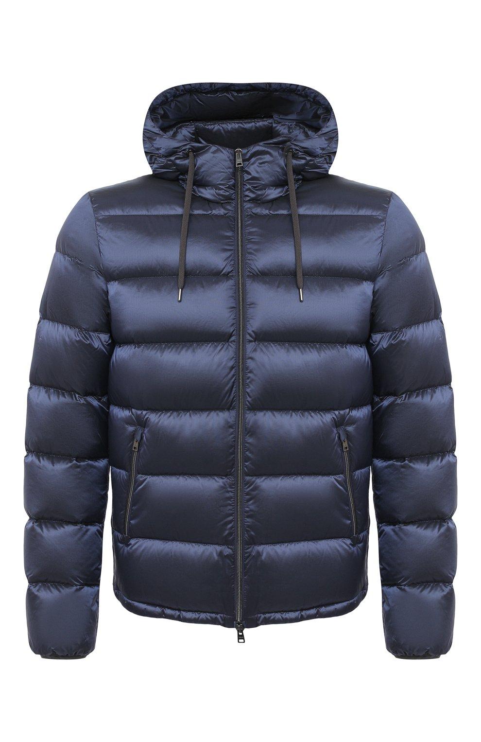 Мужская пуховая куртка HERNO темно-синего цвета, арт. PI060UR/12344   Фото 1