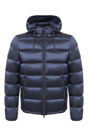 Мужская пуховая куртка HERNO темно-синего цвета, арт. PI060UR/12344 | Фото 1