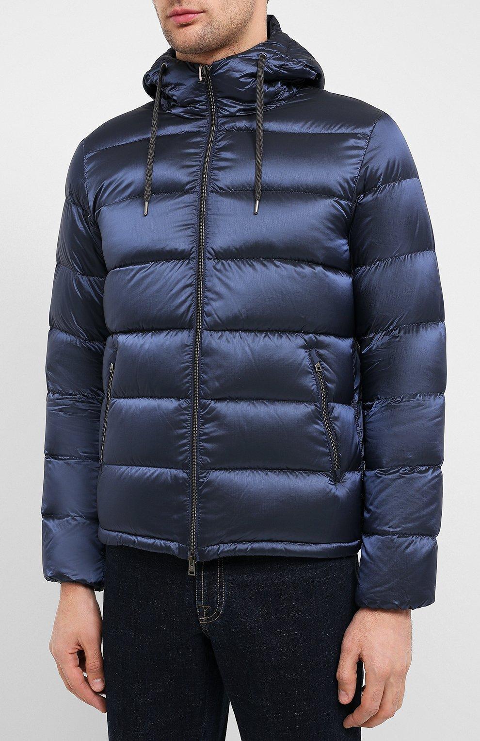 Мужская пуховая куртка HERNO темно-синего цвета, арт. PI060UR/12344   Фото 3