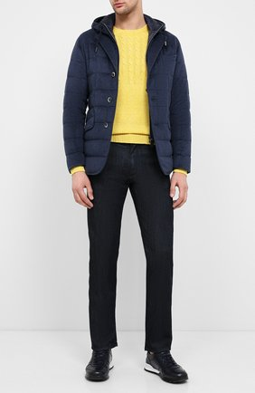 Мужская кашемировая куртка HERNO темно-синего цвета, арт. PI053UR/38025 | Фото 2