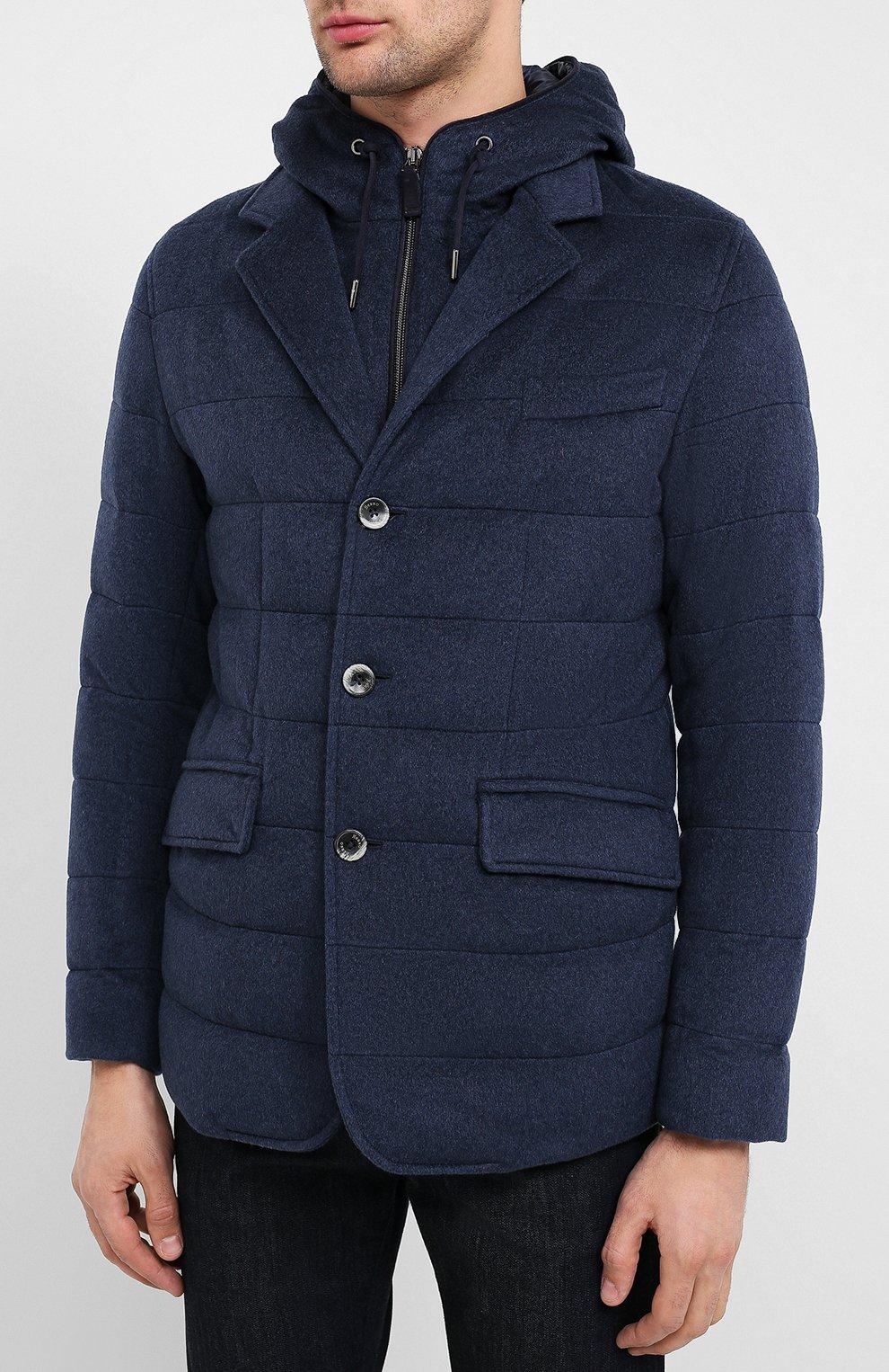 Мужская кашемировая куртка HERNO темно-синего цвета, арт. PI053UR/38025 | Фото 3