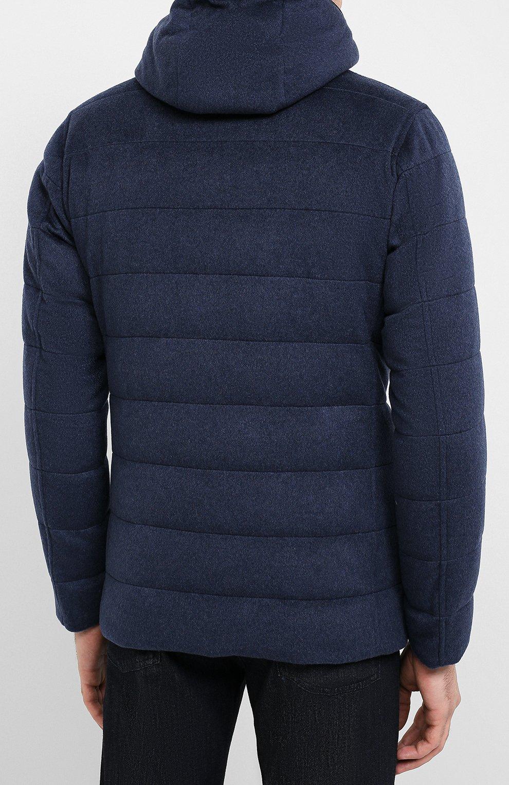 Мужская кашемировая куртка HERNO темно-синего цвета, арт. PI053UR/38025 | Фото 4