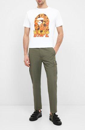 Мужская хлопковая футболка BAPE белого цвета, арт. 1G30110075   Фото 2