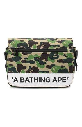 Мужская текстильная сумка BAPE зеленого цвета, арт. 1G20182122   Фото 1