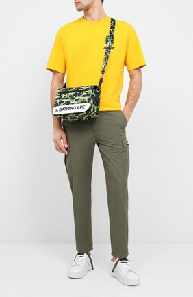 Мужская текстильная сумка BAPE зеленого цвета, арт. 1G20182122   Фото 2