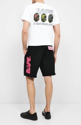 Мужские хлопковые шорты BAPE черного цвета, арт. 1F20153035   Фото 2