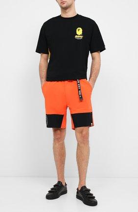 Мужские шорты BAPE оранжевого цвета, арт. 1F20153034 | Фото 2
