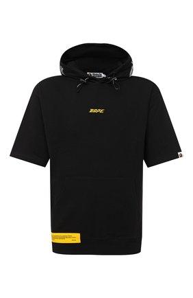 Мужская хлопковая футболка BAPE черного цвета, арт. 1F20114024 | Фото 1