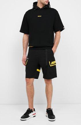 Мужская хлопковая футболка BAPE черного цвета, арт. 1F20114024 | Фото 2