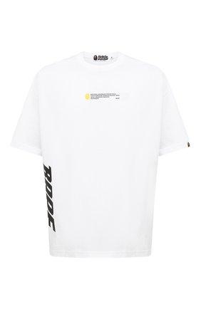 Мужская хлопковая футболка BAPE белого цвета, арт. 1F20111023   Фото 1
