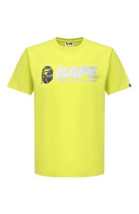 Мужская хлопковая футболка BAPE зеленого цвета, арт. 1F20110097 | Фото 1