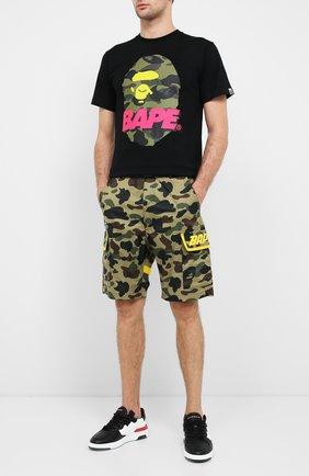 Мужская хлопковая футболка BAPE черного цвета, арт. 1F20110096 | Фото 2